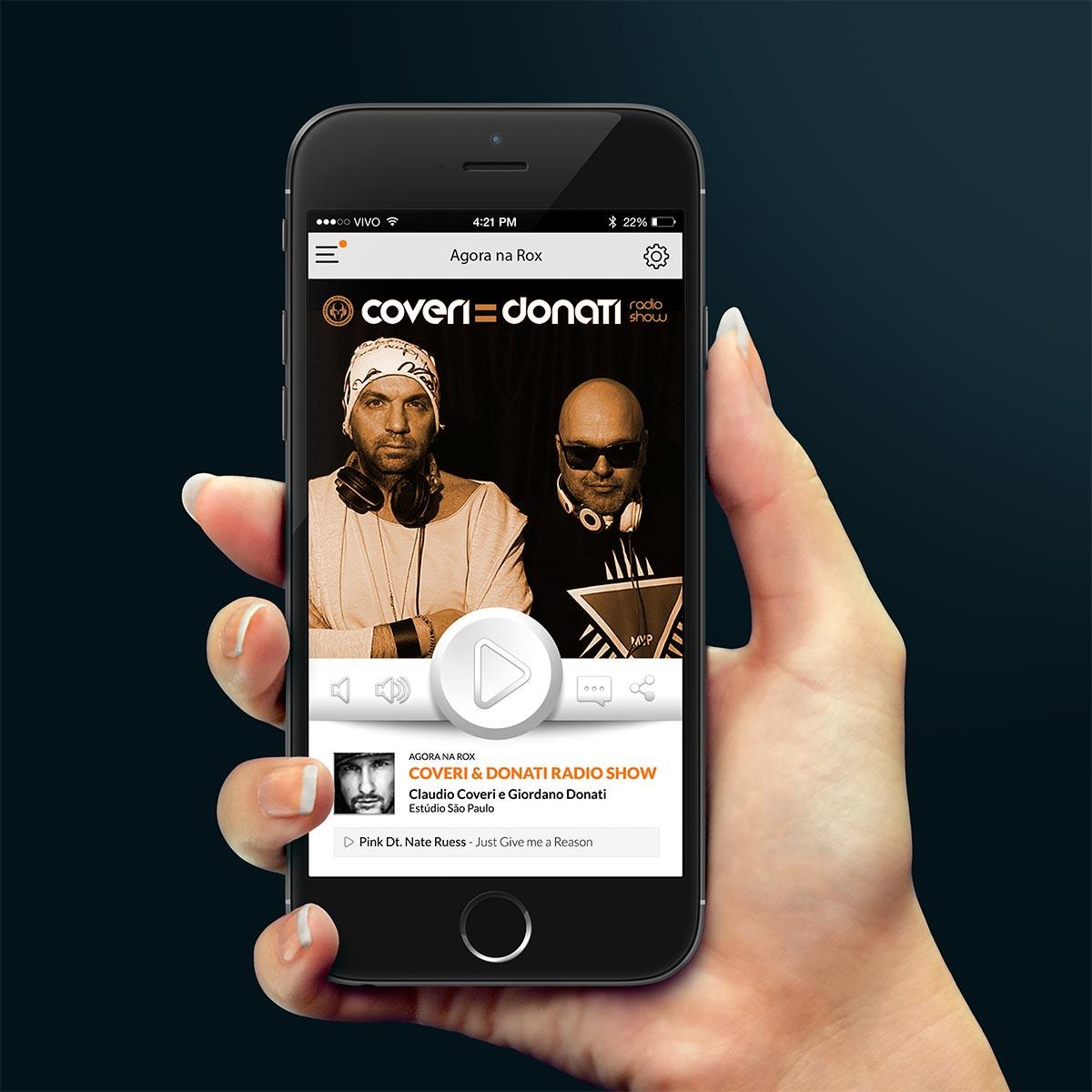 Mobile App Rádio Rox