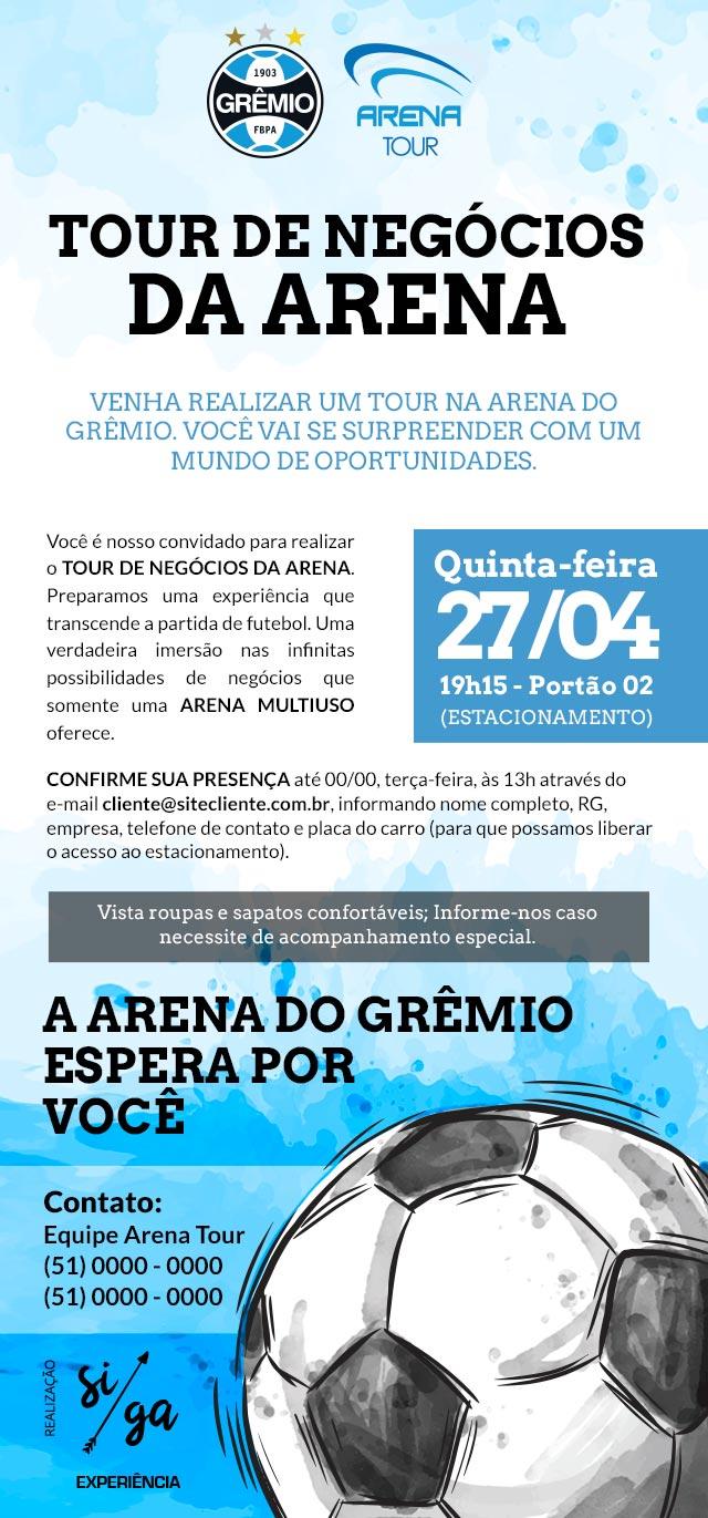 Mailing Convite Arena do Grêmio
